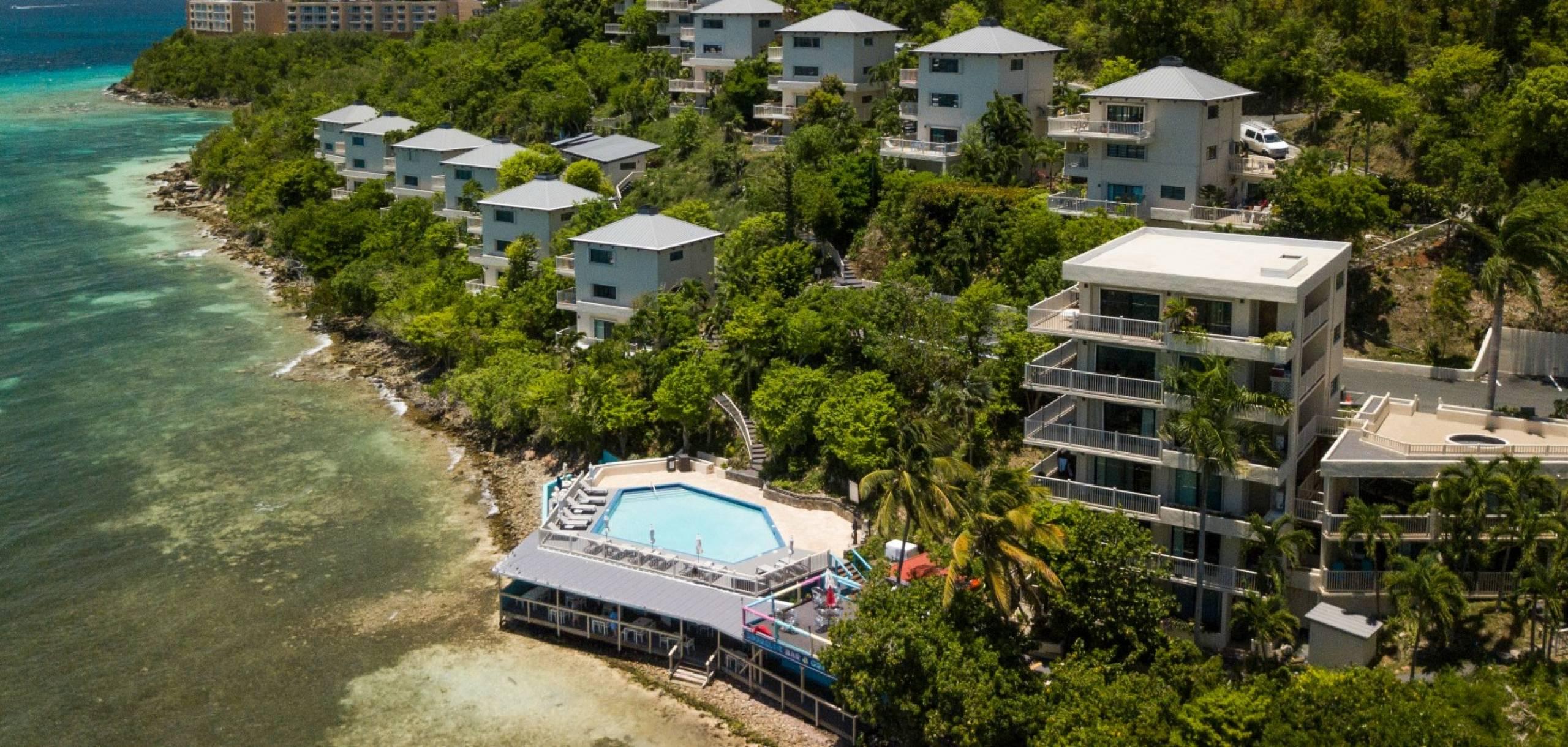 View of resort's shoreline
